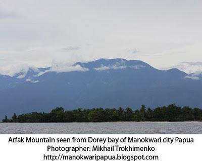 Pegunungan Arfak di sebelah selatan kota Manokwari - Papua Barat