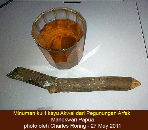 minum teh dari kulit kayu akwai diari charles roring